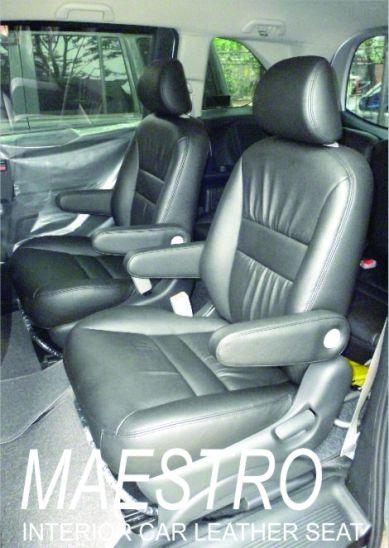 Modifikasi interior Honda Freed 2012, jok mobil bahan MBTech New