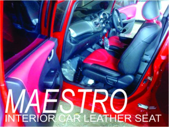 Modif Jok Honda Jazz RS 2012 Kombinasi Dua Warna Merah