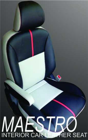 Kombinasi jok mobil tiga warna untuk Honda Freed 2012 dengan bahan