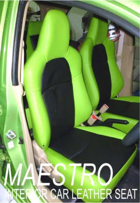 Modifikasi interior Honda Brio, sarung jok mobil paten bahan MBTech ...