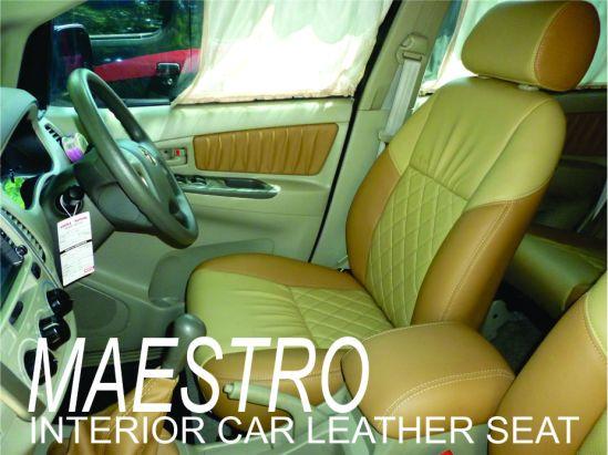 Tampilan interior Toyota Innova terbaru, sarung jok paten dengan bahan