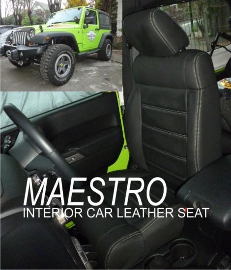jok kulit untuk jeep wrangler dengan bahan autoleder nappa