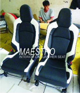 model jok honda mobilio , brio atau brv dengan kombinasi warna hitam putih
